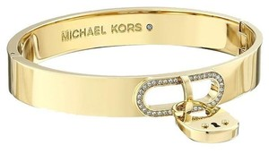 Michael Kors REDUCED, Michael Kors Cityscape Gold Tone Padlock Bangle Bracelet
