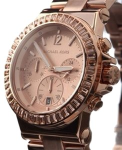 Michael Kors Rose Pave Bezel Chronograph Watch