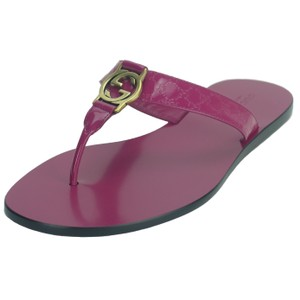 Gucci Thong Leather Pink Sandals