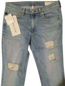 Rag & Bone Skinny Distressed Skinny Jeans-Distressed