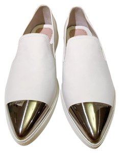 Miu Miu Metal Cap Metal Toe Snaeker Size 40 White Athletic