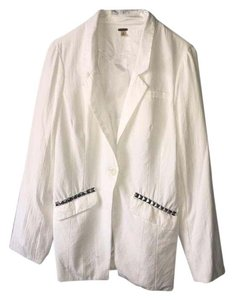 Free People White with silver embellishments Blazer