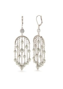 Kate Spade REDUCED, Silver-Tone Pearls of Wisdom Chandelier Earrings