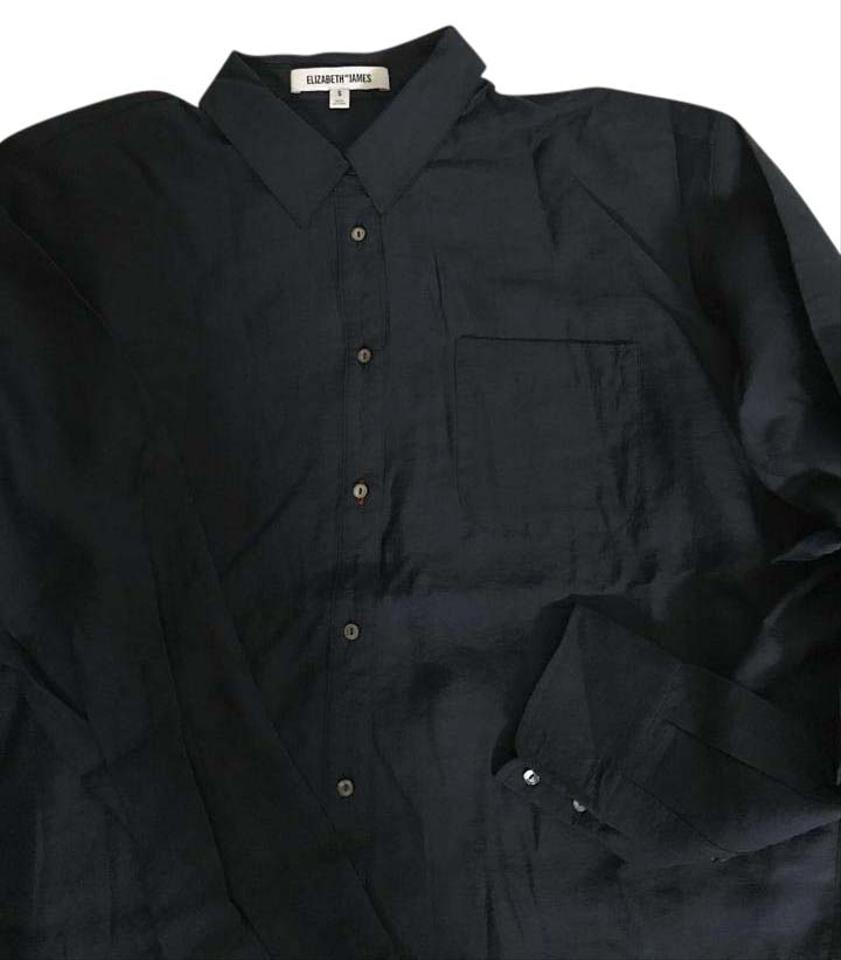 Elizabeth And James Midnight Blue Shirt Unused Button Down Top Size