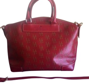 Dooney & Bourke Satchel in Red with DB in Gold letters