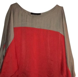 BCBGMAXAZRIA Top Coral/tan