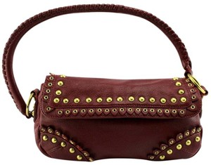 Gianni Bini Studded Pebbled Vintage Retro Hobo Bag