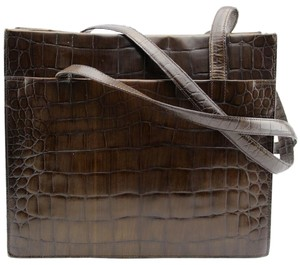 Joan & David Tote in Brown