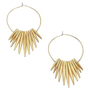 Michael Kors Michael Kors Tribal Matchstick Spike Drop Hoop Earrings MKJ4500