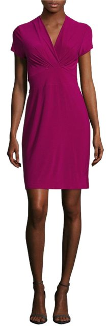 Item - Beet Red Clara V-neck Above Knee Night Out Dress Size 0 (XS)