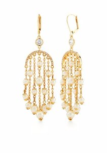 Kate Spade REDUCED, Gold-Tone Pearls of Wisdom Chandelier Earrings