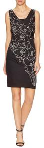 Tracy Reese Graphic Printed Wrapped Stiching Dress