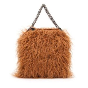 Stella McCartney Fur Falabella Curly Lamb Tote in Brown