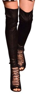 Givenchy Black Over The Knee Boots