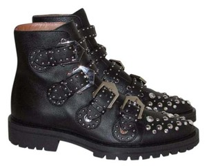 Givenchy Black Leather Studded Boots