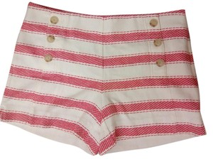 Ann Taylor LOFT Style Striped Blend Pockets Shorts
