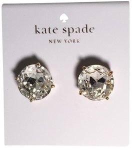Kate Spade NEW!!! Large Sparkly Gum Drop Stud Earrings W Dust Bag