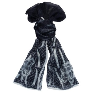 Valentino Valentino Col.4 Black Floral Silk Ladies Scarves