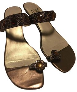 Ann Marino Gold Sandals