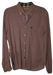 Burberry Brit Button Down Shirt Burgundy