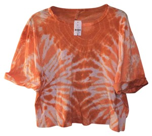Emma & Michelle T Shirt Orange / Peach Tie Dye