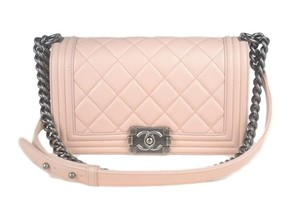 Chanel Boy Lambskin Shoulder Bag