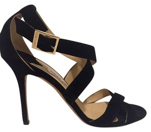 Jimmy Choo Designer Suede Holiday Night Out Black Suede Sandals
