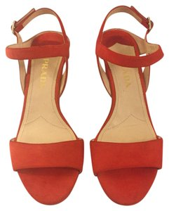Prada Tangerine red Sandals