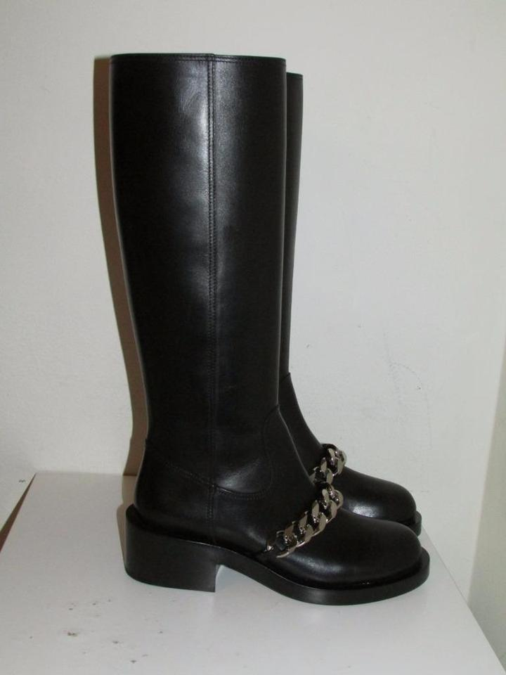 Black Booties Givenchy Trim Chain Boots Pira Leather Yndzdwgq