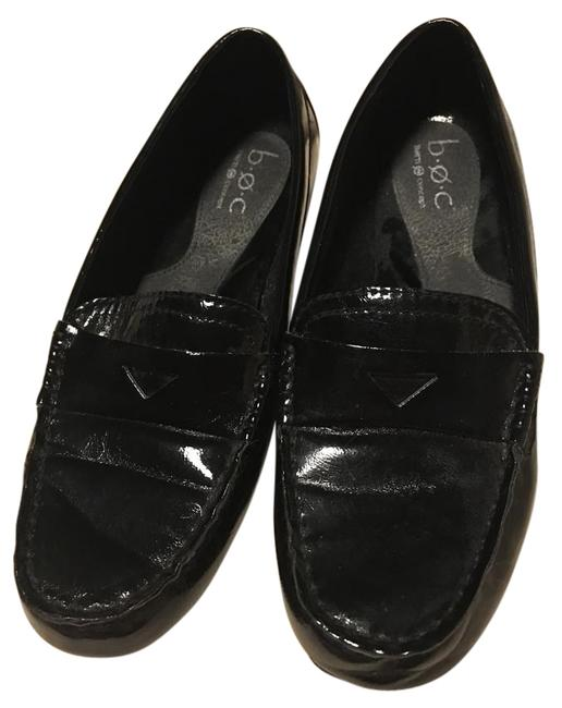 Item - Black Penny Band Style Slip On Loafer Patent Leather Flats Size US 8.5 Regular (M, B)