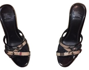 Burberry Classic Check and Black Wedges