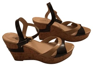 Guess Black and beige Wedges