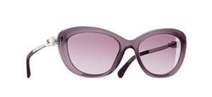 Chanel Chanel 5340Cat Eye Pearl Sunglasses in Violet Opal