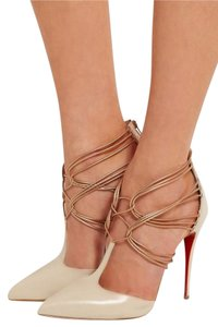 Christian Louboutin Nude Leather Pumps