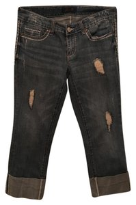 Seven7 Capri/Cropped Denim-Light Wash