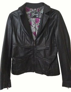 Guess 1981 Black Leather Jacket