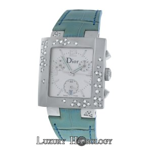 Dior New Authentic Ladies Dior Riva D81-101 Stainless Steel Diamonds
