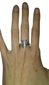 Other Sterling Silver Stamped Cheetah/Leopard Face Ring