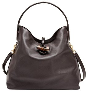 Gucci Soft Deer Leather Tote in Brown