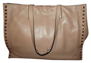 Valentino Leather Tote in pink