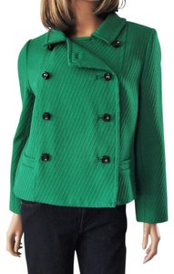 MILLY Double Breasted Emerald Wool Green Jacket