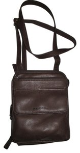Fossil Leather Organizer Cross Body Bag