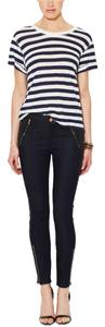 7 For All Mankind Zippers Skinny Jean Skinny Pants blue with coated black