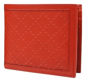 0720eb6c83ff7c Gucci Hillary Lux Orange Red Diamante Leather Bifold Wallet 225826 6516
