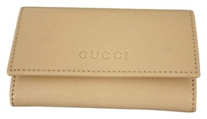 Gucci New GUCCI Leather Key Chain/ Holder BEIGE w/Box 260989 9910
