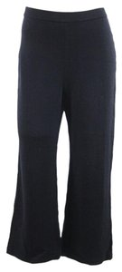 St. John Black Knit Wool Casual Pants