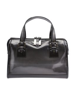 Tory Burch Patent Leather Satchel in Black