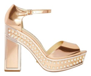 Kat Maconie Pearls Nasty Gal Rose Gold Platforms