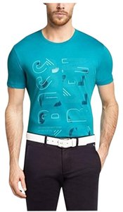 Hugo Boss Logo Cotton T Shirt AQUA