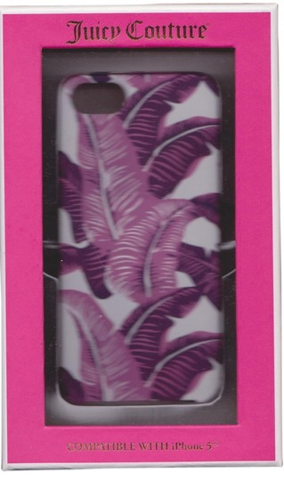 Juicy Couture Juicy Couture Pink Purple Palm Floral Case Cover iPhone 5/5S